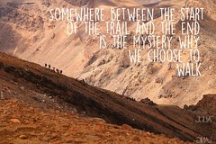Travel quote (Garfield4989) Tags: travel traveller quote somewhere between start trail end is mystery why we choose walk tongariro new zealand