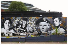 Clutha Bar Artwork. (Paris-Roubaix) Tags: the clutha bar glasgow artwork public art benny lynch world boxing champion woody guthrie bobby mcnamara rogue one