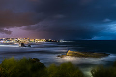 Strom is coming (Romain Archimbaud) Tags: clairs longexposure paysage ocean basquecountry nature biarritz lightning seascape orages storm poselongue paysbasque