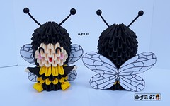 Bee kid Origami 3d (Samuel Sfa87) Tags: bee kid origami 3d bees in suit insetto abelha abelhina sfaorigami sfa87 sfa origami3d handmade arteempapel artisan arteconlacarta arte craft crafts carta criança suits papercraft paper papel kids kawai