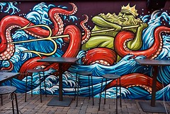 Waves (TwinCitiesSeen) Tags: mural minneapolis minnesota twincities twincitiesseen canont3i tokina1224mm