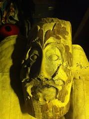 Carved Green Man, Walnut, Jack-In-The-Green (Benjamin's Barn) Tags: carved woodcarving greenman jackinthegreen walnut oakleaves acorns woodwork benjaminsbarn head
