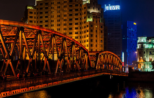 Waibaidu bridge in Shanghai