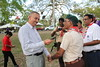 HIs Excellency, Anthony Carmona SC, President of the Republic of Trinidad and Tobago visitsCub Scouts Camps 2013 in Cedros Secondary School and Palmiste Park