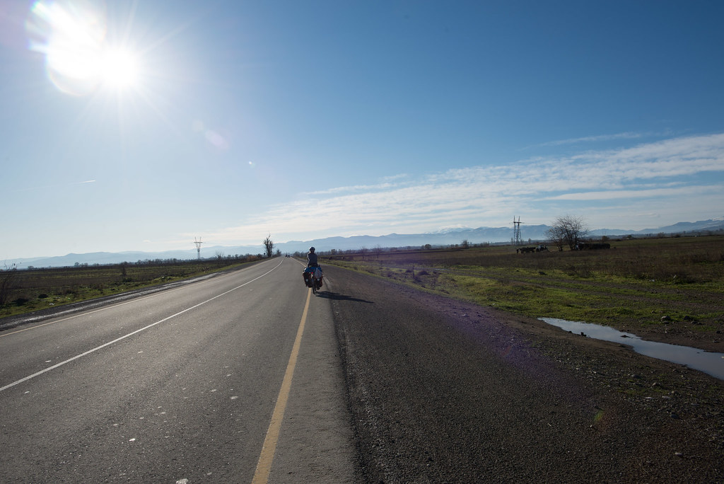 Clear skies, and flat roads!
