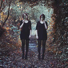 Twins (siyanakasabovaphotography) Tags: colour girl composite photoshop hair photography twins woods com