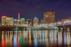 downtown Hartford Connecticut at dusk from across the Connecticut River. (AgFineArtPhotography.com) Tags: city bridge sky copyright usa reflection beautiful skyline clouds america river twilight scenery downtown pretty cityscape view skyscrapers unitedstates dusk connecticut capital scenic newengland ct officebuildings landmark scene financialdistrict northeast hartford founders connecticutriver copyrighted businessdistrict foundersbridge founderbridgewalkway sbridgewalkway foundersbridgewalkway