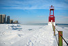 Pierscape (Andy Marfia) Tags: winter snow chicago ice beach pier iso200 frozen lakemichigan f8 edgewater hollywoodbeach 11600sec d7100 1685mm
