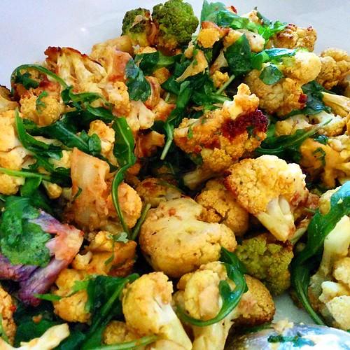 #Delicious #cauliflower #salad #rasins #watercress