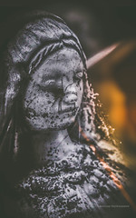 The Spiders Of Faith (Ghost Of Nations Photography And Digital Art) Tags: sculpture graveyard statue spider gloomy spiderweb spooky matte lightburn ghostofnations ghostofnationsphotography