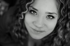 curly hair (Lucio Busa) Tags: portrait people bw woman white black girl night portraits hair 50mm donna eyes bokeh sony occhi ricci e mm f18 50 ritratti bianco ritratto nero ragazza capelli sonyalpha