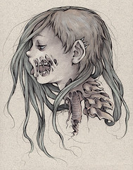 Gore Girl (SavannahHorrocks) Tags: art illustration pen ink gore horror marker guro