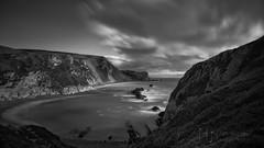 Man o' War Cove III (Nigel Jones QGPP) Tags: longexposure sea sky blackandwhite beach water clouds mono bay coast waves cove cliffs dorset jurassic manowar durdledoor nikefex silverefex