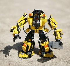 Construct-O-Mech (GVAfol) Tags: chicken robot construction lego mecha hazmat mech