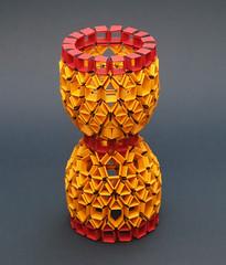 RELOJ DE ARENA / HOUR GLASS (mganans) Tags: origami strip origamimodular snapology