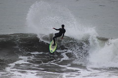 big spray (j j miller) Tags: ocean california beach northerncalifornia fog surf pacific surfer marin wave overcast s