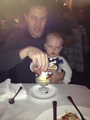 """Paul Eats Snowman Ice Cream at the Walnut Room • <a style=""""font-size:0.8em;"""" href=""""http://www.flickr.com/photos/109120354@N07/16117608091/"""" target=""""_blank"""">View on Flickr</a>"""