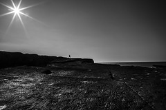 into the sun............................ (Ozlem Acaroglu(www.ozlemacaroglu.com)) Tags: monochrome turkey landscape trkiye turquie fullframe turchia turkei siyahbeyaz minimalphotography ndgrad leefilter leefilters canon5dmarkiii lee09ndgradsoft lee09ndsoft monowork kocaelikefken kefkenpembekayalar