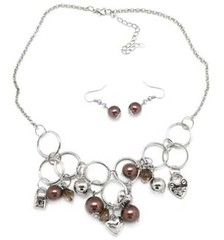 5th Avenue Brown Necklace P2320A-4