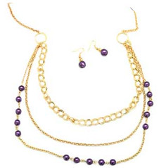 Glimpse of Malibu Purple Necklace K3 P2430A-2