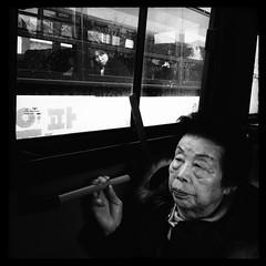 ((Jt)) Tags: windows woman white black bus monochrome asia flash streetphotography korea smoking transportation suwon travelphotography mobilephotography iphoneography streettogs iphone4s jtinseoul