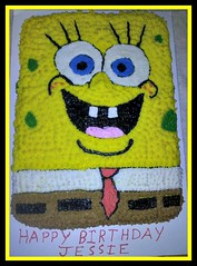 Spongebob Squarepants cake by Jack, Springfield, Missouri, www.birthdaycakes4free.com