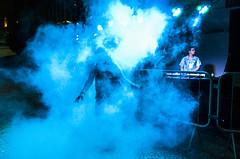 (p.marinuzzi) Tags: street blue light party brazil woman luz azul brasil de photography dj dancing sopaulo mulher cyan streetphotography rua paulo fotografia festa dana so cultural fumaa virada 2014 danando fotografiaderua marinuzzi paulomarinuzzi vsmoke selvasp
