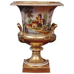 Large Old Paris Porcelain Urn with Romantic Landscape Scenes (thehighboy) Tags: paris urn ceramics miami antiques porcelain collectibles highboy decorativeaccessories