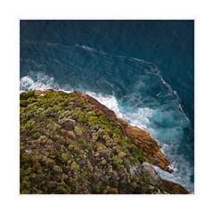 Bird's eye view (Peter & Olga) Tags: ocean focus flight aerial helicopter coastline abstracts nelsonbay 2015 d810 olgabaldock