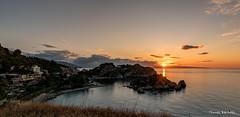 Sunset over Isola Bella, Sicily (ThomasBartelds) Tags: italy sicily bella isola