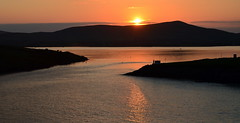 Sunset, Dingle (Barbara Walsh Photography) Tags: ireland sunset sea lighthouse evening bay dingle kerry hills