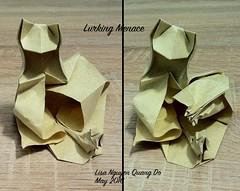 Lurking Menace (lisa.nqd) Tags: cat mouse origami paperfolding lurking menage wetfolding lurkingmenace