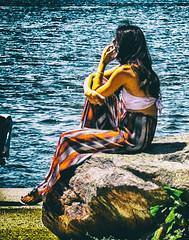 95F (DmitryXT1) Tags: ocean sea woman hot girl fashion rock female outside person cool style temperature stylish fashionable palazzopants