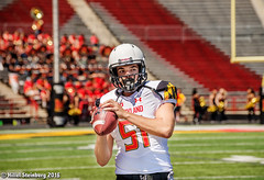 Maryland_White_on_Red_20160416_0792.jpg (hillels) Tags: park game college sports field sport photography one football spring team dj outdoor stadium maryland capitol practice terps byrd durkin collegepark testudo byrdstadium terp capitolonefield djdurkin