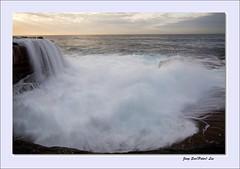 The wave's waterfall (jongsoolee5610) Tags: seascape waterfall sydney wave australia maroubra wavewaterfall