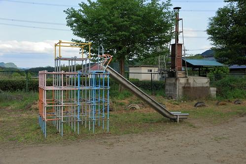 旧上岡小学校 ジャングルジム