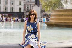 Irina @Trafalgar Square (magicpicture.co.uk) Tags: 50mm bokeh trafalgarsquare primelens nikond40 londonsunnyday beyondbokeh nikond5200 irinasohanpal nikkor5018fprimelens dilpreetsohanpal wwwmagicpicturecouk