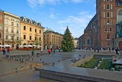 Main Market Square (madejski.janusz) Tags: city travel tourism church st architecture basilica arcade poland medieval historic unesco marys lanterns krakw marketsquare dothhall