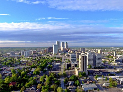 Looking North on Downtown Tulsa, Oklahom by JustTulsa, on Flickr