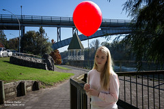 Bridge & Balloon (Spark-Photo) Tags: bright riverbank contrejour intothesun waikatoriver