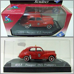 """PEUGEOT 203 """"POMPIERS"""" - SOLIDO (RMJ68) Tags: peugeot 203 pompiers 1954 bomberos fire solido sixties diecast coches cars juguete toy 143"""