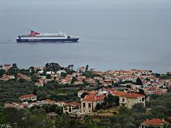 PS ARIADNE..from Mytilene Lesbos to Piraeus(Athens) (panoskaralis) Tags: sea green nature island seaside ships hellas greece lesbos mytilene aegeansea lesvosisland