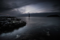 (Glen Parry Photography) Tags: ocean longexposure blue sea lighthouse beach water wales nikon rocks blackpoint anglesey penmon d7000 bigstopper glenparryphotography