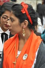 China Oaxaquena With Earring Mexico (Ilhuicamina) Tags: people woman mexicana mujer mexican oaxaca joyeria oaxacan