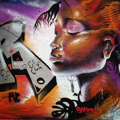 Antologa de expresin africana (annaeme) Tags: barcelona africa woman streetart face graffiti wallart spraypaint