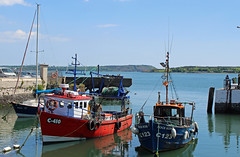 Cobh harbour County Cork Eire. (David Russell UK) Tags: ocean county ireland sea water rose rock port landscape harbor boat fishing scenery sailing ship harbour cove cork scenic vessel scene eire coastal mooring vehicle soiree titanic cobh trawler wterfront c140 c123