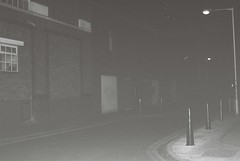 Old Castle Street (Night) (goodfella2459) Tags: street old white black london castle history film night analog 35mm jack alley nikon alice delta f65 crime 100 whitechapel milf ilford mckenzie ripper washhouses