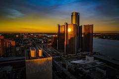 Sunspot baby! (Notkalvin) Tags: city roof sunset rooftop skyline skyscraper marriott evening gm cityscape outdoor michigan detroit viewfromthetop rencen renaissancecenter generalmotors gmbuilding mikekline notkalvin notkalvinpjhotography
