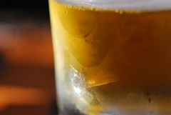 a glass of cold beer (Hayashina) Tags: cold beer glass hotcold macromondays
