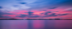 Grundsund after sunset (mpakarlsson) Tags: night evening ocean water sunset sky light grundsund bohusln sweden archipelago sunlight sea bay mirror reflection longexposure nd16 filter nd ndfilter outdoor 5dii 5dm2 5dmark2 5dmarkii clouds panorama